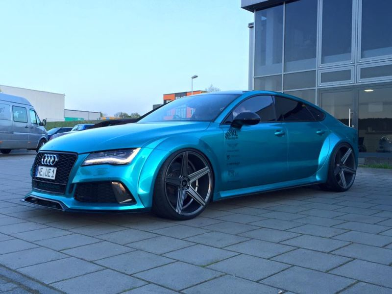 Audi RS7 Widebody mbDesign KV1 22 Prior Design PD700r Tuning 1 Audi RS7 Widebody auf mbDesign KV1 22 Zoll Alufelgen