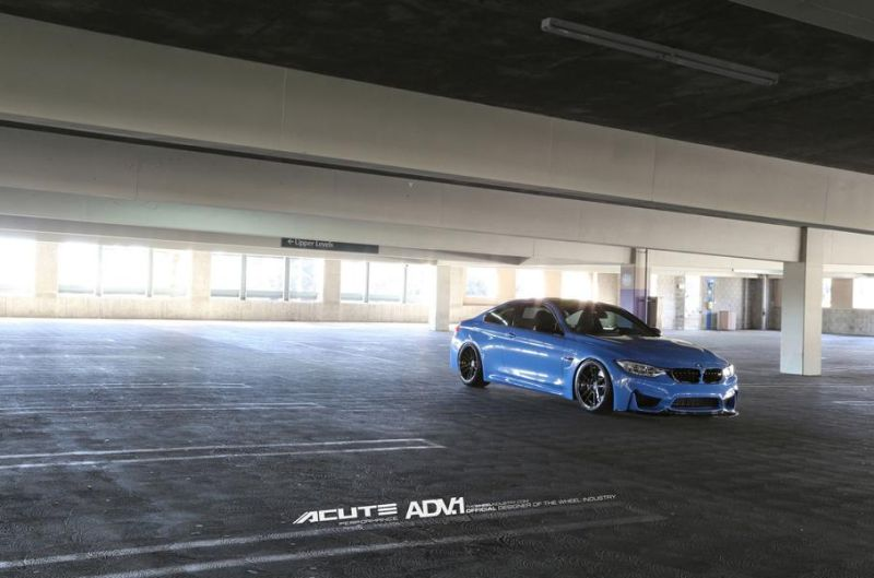 BMW M4 With Aftermarket Wheels And Aero By Acute Performance 7 Acute Performance BMW M4 F82 in Yas Marina Blau