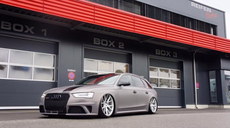 BlackBox Richter Audi RS4 B8 Avant Mattgrau Folierung Tuning 1 Mega Schick   BlackBox Richter Audi RS4 B8 Avant in Mattgrau