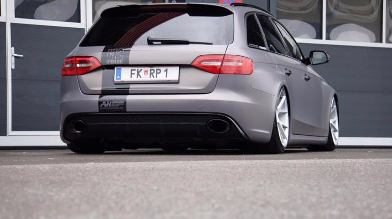 BlackBox Richter Audi RS4 B8 Avant Mattgrau Folierung Tuning 3 Mega Schick   BlackBox Richter Audi RS4 B8 Avant in Mattgrau