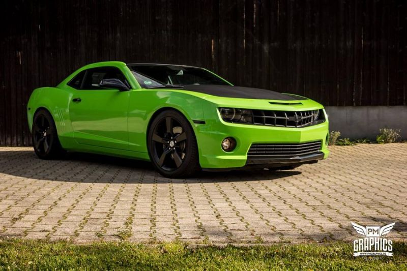 Chevrolet Camaro Grass Green SchwabenFolia CarWrapping Folierung Tuning 1 Chevrolet Camaro in Grass Green by SchwabenFolia CarWrapping