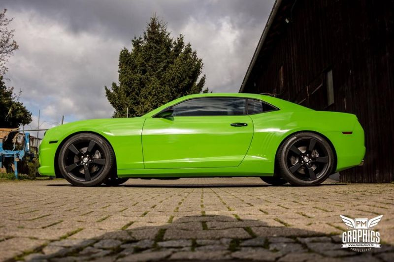 Chevrolet Camaro Grass Green SchwabenFolia CarWrapping Folierung Tuning 3 Chevrolet Camaro in Grass Green by SchwabenFolia CarWrapping
