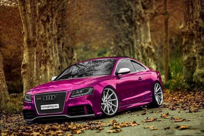 Chrom Pink Audi A5 RS5 Coupe tuningblog.eu 1 Chrom Pink Folierung am Audi A5 RS5 Coupe by tuningblog.eu
