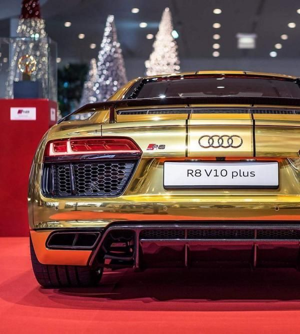 Chromfolierung Wrap Gold Audi R8 2016 tuningblog.eu  Chromfolierung in Blau am 2016er Audi R8 by tuningblog.eu