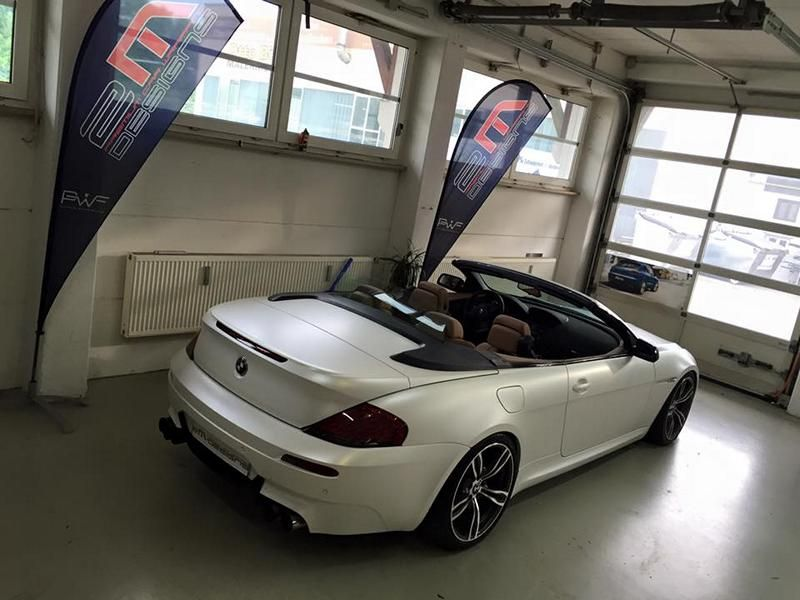 Diamond White BMW M6 E63 Cabrio 2M Designs Folierung 1 Diamond White BMW M6 E63 Cabrio von 2M Designs
