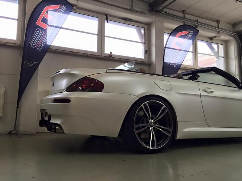 Diamond White BMW M6 E63 Cabrio 2M Designs Folierung 2 Diamond White BMW M6 E63 Cabrio von 2M Designs
