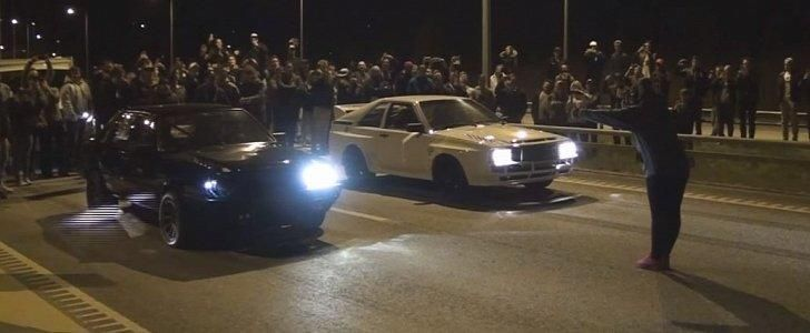 Dragerace 800PS Audi 80 BS vs. Audi Quattro Video: Dragerace   800PS Audi 80 BS vs. Audi Quattro
