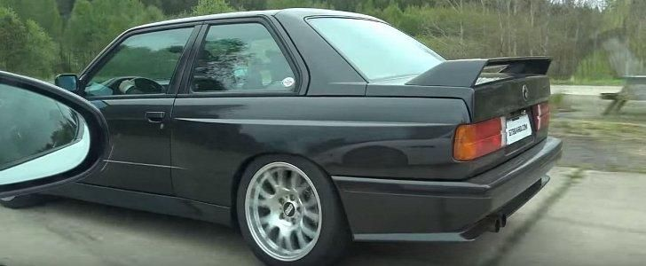 Dragerace BMW E30 M3 mit M5 V10 vs. Jaguar F Type R Video: Dragerace   BMW E30 M3 mit M5 V10 vs. Jaguar F Type R