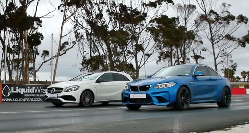 Dragerace BMW M2 F87 vs. Mercedes A45 AMG 1 Video: Dragerace   BMW M2 F87 vs. Mercedes A45 AMG