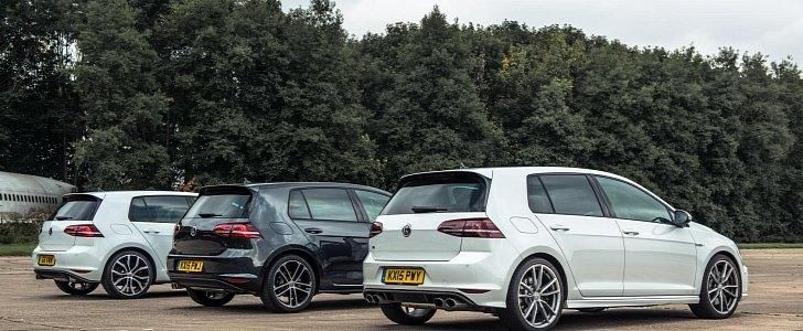 Dragerace VW Golf R MK7 vs. GTI und GTD Video: Dragerace   VW Golf R MK7 vs. GTI und GTD