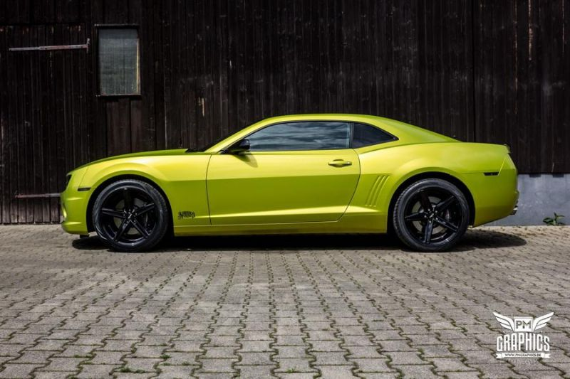 Electric Lime Green Chevrolet Camaro SS SchwabenFolia Tuning 2 Electric Lime Green Chevrolet Camaro SS by SchwabenFolia
