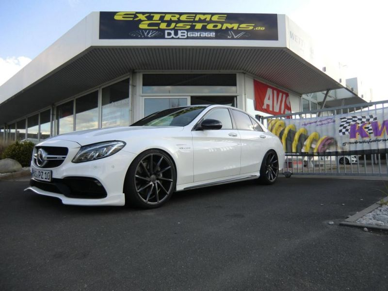 Extreme Customs Germany Mercedes AMG C63 20 Zoll Tuning 1 Extreme Customs Germany Mercedes AMG C63 auf 20 Zoll