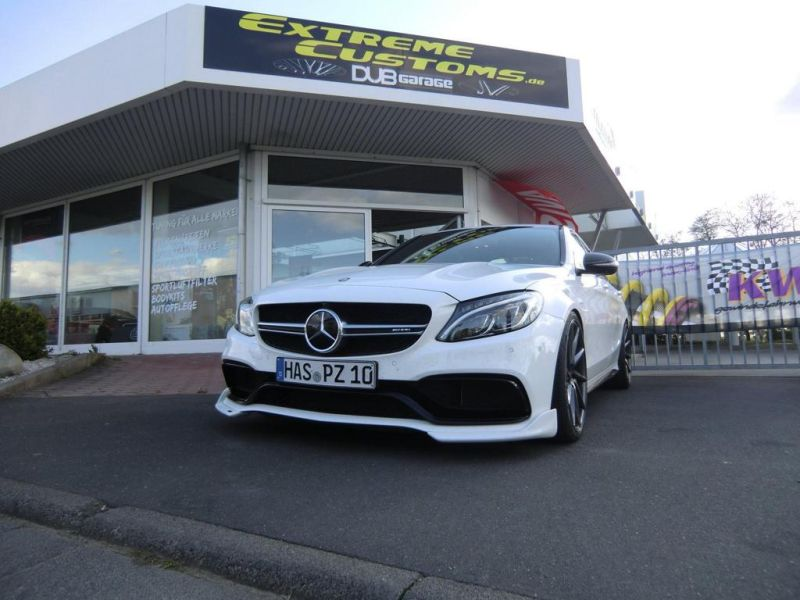 Extreme Customs Germany Mercedes AMG C63 20 Zoll Tuning 2 Extreme Customs Germany Mercedes AMG C63 auf 20 Zoll