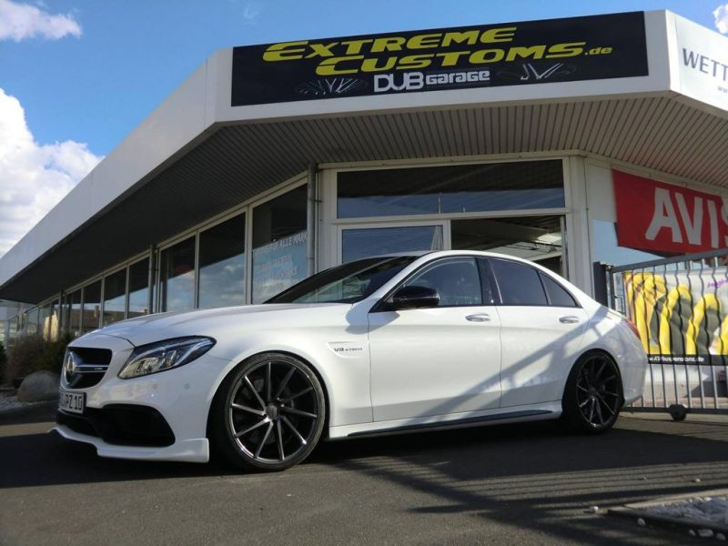 Extreme Customs Germany Mercedes AMG C63 20 Zoll Tuning 3 Extreme Customs Germany Mercedes AMG C63 auf 20 Zoll