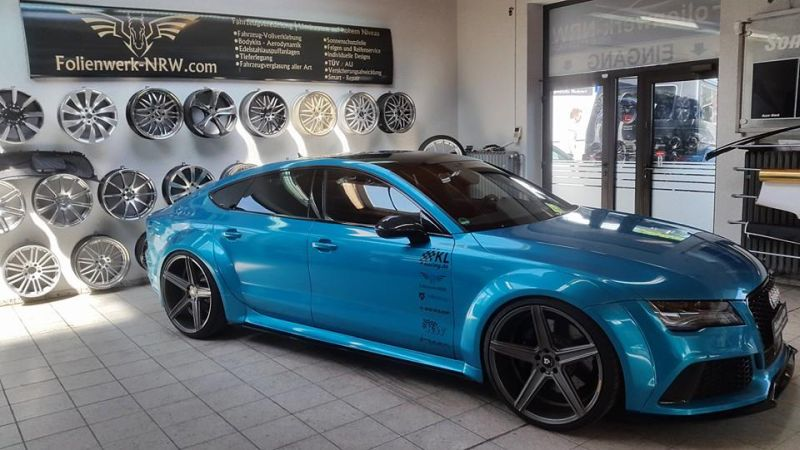 Folienwerk NRW Audi RS7 PD700R Prior Design Folierung Atlantis Blue 1 Fotostory: Folienwerk NRW Audi RS7 PD700R in Atlantis Blue