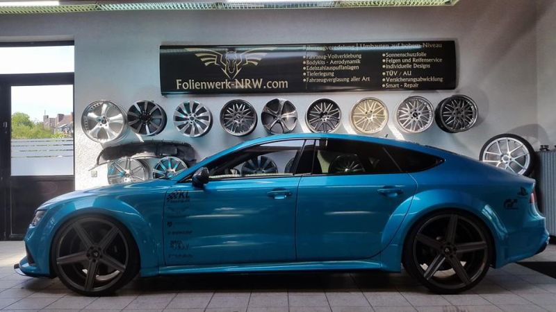 Folienwerk-NRW Audi RS7 PD700R Prior Design Folierung Atlantis Blue (4)