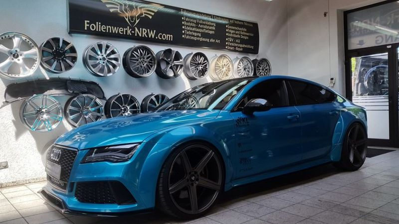 Folienwerk-NRW Audi RS7 PD700R Prior Design Folierung Atlantis Blue (5)