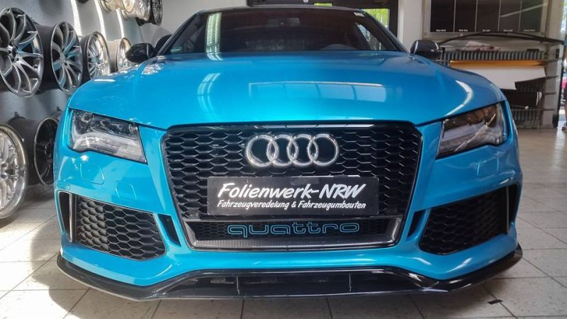 Folienwerk-NRW Audi RS7 PD700R Prior Design Folierung Atlantis Blue (6)
