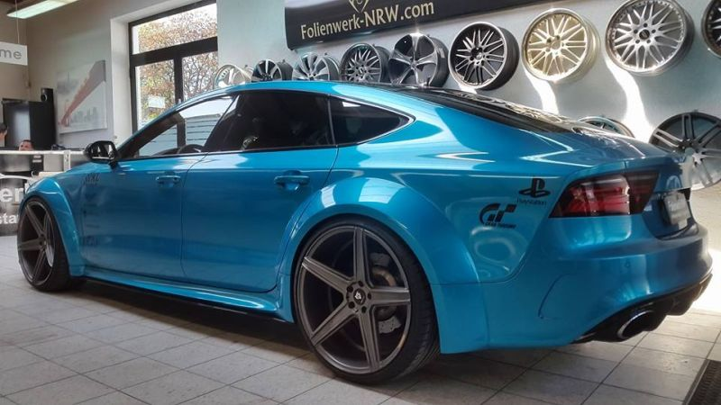 Folienwerk-NRW Audi RS7 PD700R Prior Design Folierung Atlantis Blue (7)