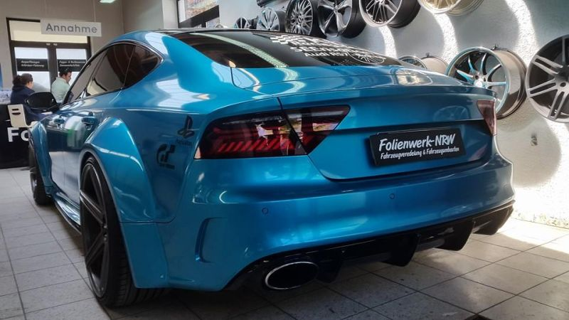 Folienwerk-NRW Audi RS7 PD700R Prior Design Folierung Atlantis Blue (8)