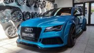 Folienwerk NRW Audi RS7 PD700R Prior Design Folierung Atlantis Blue 9 190x107 Fotostory: Folienwerk NRW Audi RS7 PD700R in Atlantis Blue