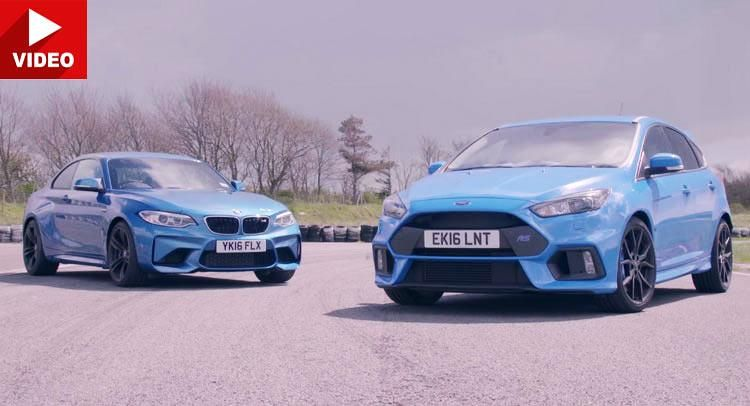 Ford Focus RS vs BMW M2 F87 Coupe Video: Tracktest   Ford Focus RS vs BMW M2 F87 Coupe