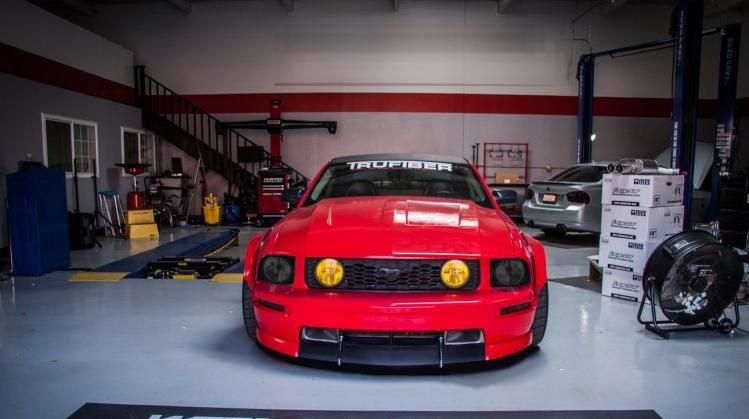 Ford Mustang GT Widebody Forgestar CF5V 20x11 Eibach Coilovers NickP 4 Ford Mustang Black Eyes Widebody by tuningblog.eu