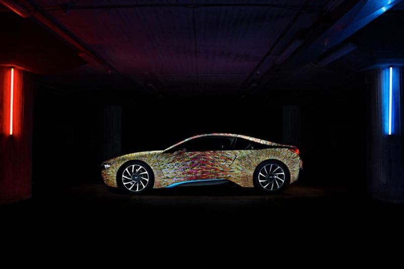 Garage Italia Customs Futurism Edition BMW i8 ArtCar Tuning 2 Fotostory: Garage Italia Customs & BMW zeigen i8 ArtCar