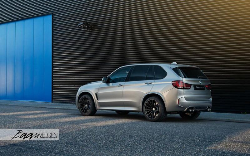 HRE Wheels Akrapovic Auspuff BMW X5M F85 Tuning 3 Dezent   HRE Wheels & Akrapovic Auspuff am BMW X5M F85