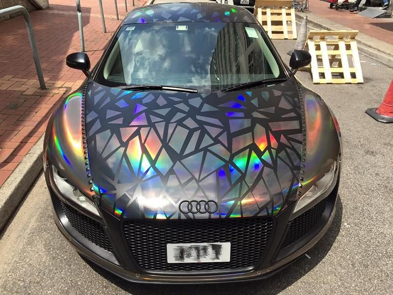 Holographic Folierung Audi R8 Tuning Impressive Wrap 2 Crazy   Holographic Folierung am Audi R8 von Impressive Wrap