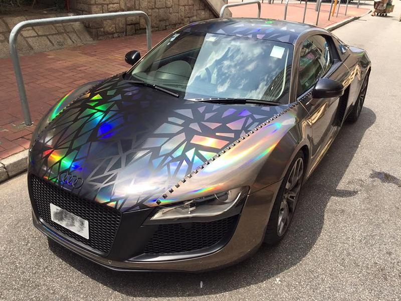 Holographic Folierung Audi R8 Tuning Impressive Wrap 3 Crazy   Holographic Folierung am Audi R8 von Impressive Wrap