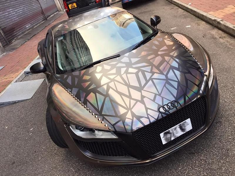Holographic Folierung Audi R8 Tuning Impressive Wrap 4 Crazy   Holographic Folierung am Audi R8 von Impressive Wrap