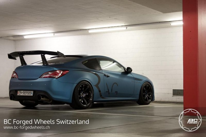 hyundai genesis coupe auf bc forged wheels alufelgen. Black Bedroom Furniture Sets. Home Design Ideas