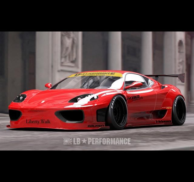 Liberty Walk Performance Ferrari 360 Modena Tuning 1 Vorschau: Liberty Walk Performance Ferrari 360 Modena