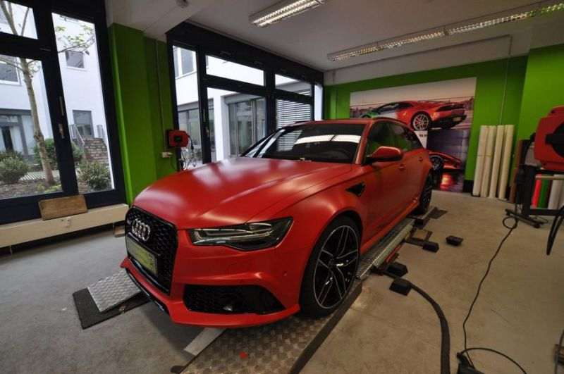 Mattrot Satin Audi RS6 C7 Avant Folierung Tuning Print Tech Premium Wrapping 1