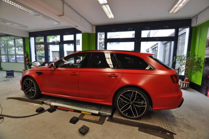 Mattrot Satin Audi RS6 C7 Avant Folierung Tuning Print Tech Premium Wrapping 10
