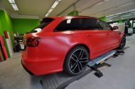 Mattrot Satin Audi RS6 C7 Avant Folierung Tuning Print Tech Premium Wrapping 7 190x126 Mattroter Audi RS6 C7 Avant by Print Tech Premium Wrapping