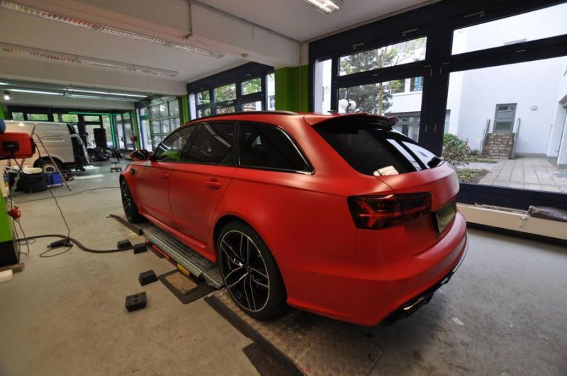 Mattrot Satin Audi RS6 C7 Avant Folierung Tuning Print Tech Premium Wrapping 9