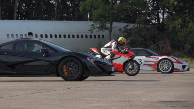 McLaren P1 vs. Porsche 918 Spyder vs. Ducati 1199 Superleggera Video: McLaren P1 vs. Porsche 918 Spyder vs. Ducati 1199 Superleggera