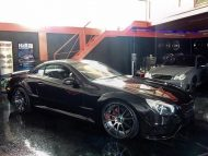 Mercedes SL R230 R231 Widebody Blackseries Design Optik Tuning FL Exclusiv Carstyling 1 190x143 Komplettprogramm   Mercedes SL R230 in SL63/65 Optik