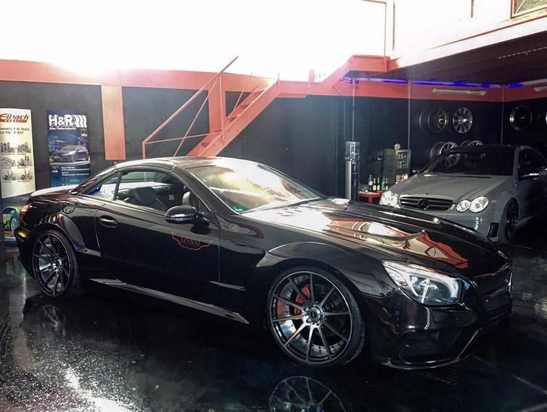 Mercedes SL R230 R231 Widebody Blackseries Design Optik Tuning FL Exclusiv Carstyling  (1)