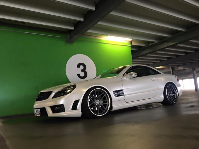 Mercedes SL R230 SL63 65 AMG Umbau FL Exclusive Cardesign 3 Komplettprogramm   Mercedes SL R230 in SL63/65 Optik