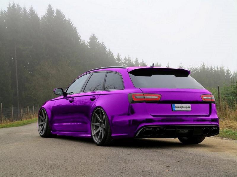 Purple Chrom Folierung Audi RS6 C7 Avant Audi A6 C7 RS6 mit Lila Chromfolierung & weißen Alufelgen