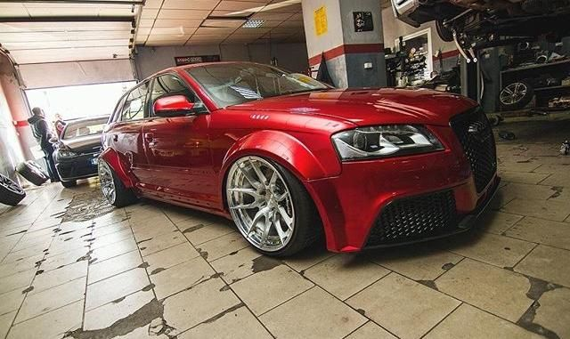 Red Audi A4 Avant Widebody tuningblog.eu  Roter Audi A4 Avant Widebody by tuningblog.eu