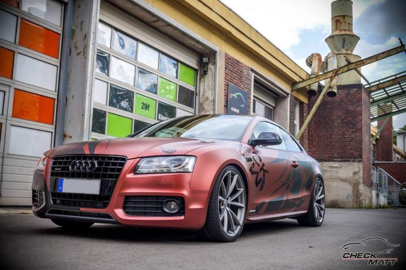 Russet red matt Folierung Audi A5 Check Matt Dortmund Tuning 1 Russet red matt Folierung am Audi A5 by Check Matt Dortmund