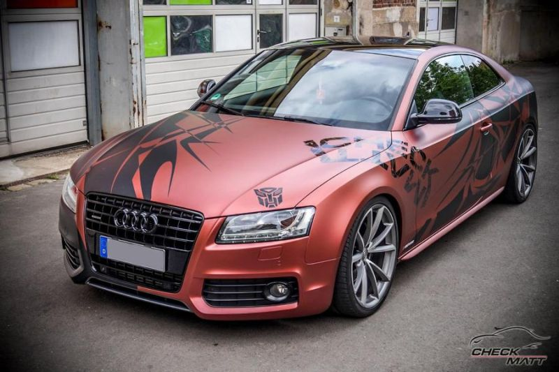Russet red matt Folierung Audi A5 Check Matt Dortmund Tuning 2 Russet red matt Folierung am Audi A5 by Check Matt Dortmund