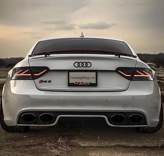Slammed Audi A5 RS5 Quad Exhaus tuningblog.eu  Tiefer Audi A5 RS5 mit 4 Rohr RS5 Optik Exhaust by tuningblog.eu