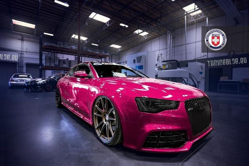 Slammed Pink Audi RS5 Coupe HRE Wheels tuning 1 1 Slammed Pink Audi RS5 Coupe auf HRE Wheels by tuningblog