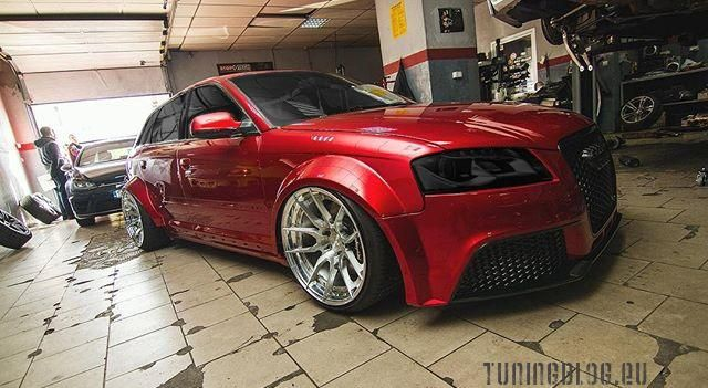 Slammed Red Audi A4 Avant Widebody tuningblog.eu  Roter Audi A4 Avant Widebody by tuningblog.eu
