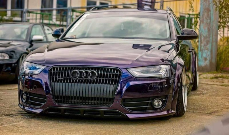 Slammed Widebody Audi A4 B8 Avant tuningblog.eu black 1 2 Tiefer Widebody Audi A4 B8 Avant in Schwarz by tuningblog.eu